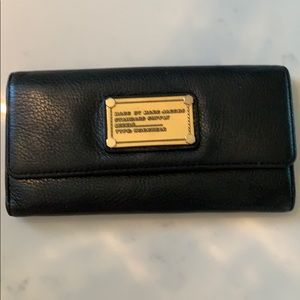 Marc by Marc Jacobs black and gold wallet